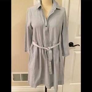 Madewell Light  Blue Denim Belted Dress-Sm. NWOT